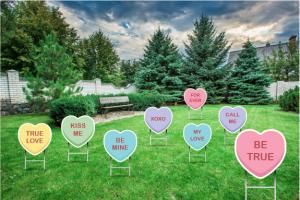 Valentine's Day Yard Signs